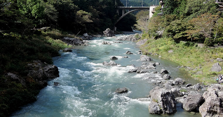 The TamagawaRiver, Mitake