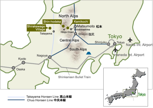 Image result for shirakawago map