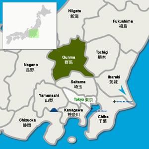 January - Japan map gunma