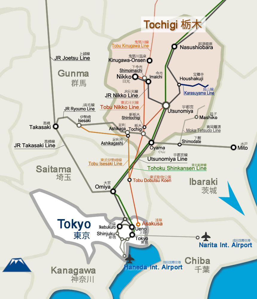Tourist Map Of Tokyo Districts