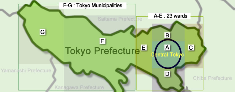Tokyo Area Map