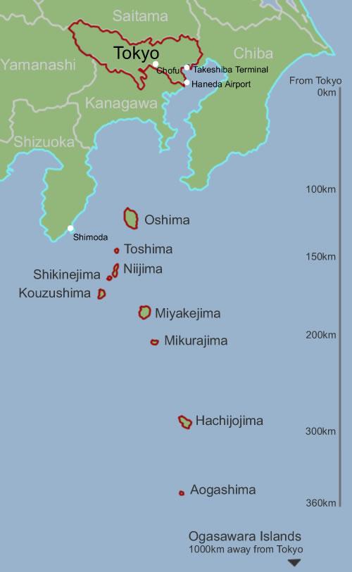 Tokyo Islands Izu Islands and Ogasawara Island chains digijoho